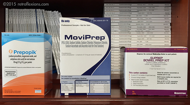 Various bowel preps that are optimized for split-dosing.