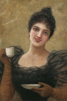 woman with coffee cup