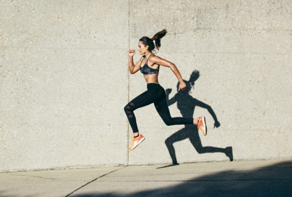 jumping exercise woman