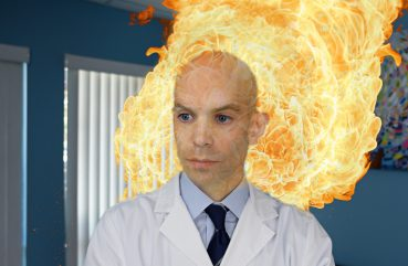 doctor on fire